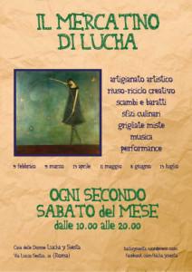 Casa donne Lucha Siesta herstory  femminismo storia collettivi gruppi Roma Lazio mercato mercatino