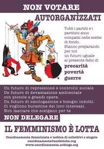 volantino herstory  femminismo lesbiche  luoghi donne collettivi gruppi Roma