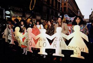striscione manifestazione omcvi donne capoverdianeherstory  femministe luoghi storia collettivi gruppi Roma