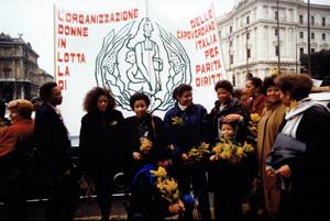 manifestazione omcvi donne capoverdianeherstory  femministe luoghi storia collettivi gruppi Roma