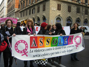 manifestazione assolei casa donna herstory  femministe luoghi storia collettivi gruppi Roma