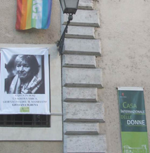 manifestazione sgrena casa internazionale donne herstory  femminismo lesbismo luoghi storia gruppi Roma