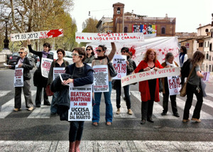 manifestazione violenza femminicidio casa internazionale donne herstory  femminismo lesbismo luoghi storia gruppi Roma