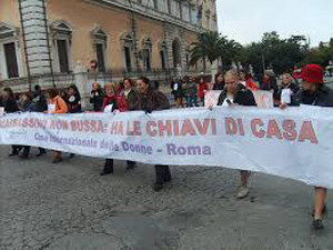 manifestazione violenza casa internazionale donne herstory  femminismo lesbismo luoghi storia gruppi Roma