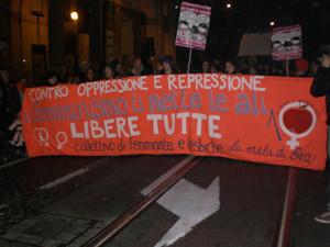 herstory  femminismo femministe lesbiche  luoghi donne storia manifestazioni gruppi Roma mela eva Collettivo studentesse università manifestazione violenza