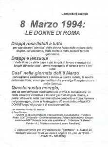 volantino Buon Pastore Affi herstory  femministe lesbiche  luoghi donne storia collettivi manifestazioni gruppi Roma