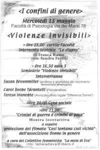 herstory  femministe lesbiche storia manifestazioni gruppi Roma mela eva Collettivo studentesse università  violenza confini genere