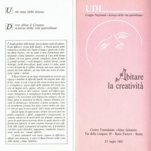 invito Scienza della vita quotidiana casa donna herstory  femministe luoghi storia collettivi gruppi Roma