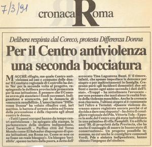 differenza donna centro antiviolenza articolo repubblica herstory  femministe luoghi storia collettivi gruppi Roma