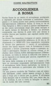 differenza donna centro accoglienza articolo noidonne herstory  femministe luoghi storia collettivi gruppi Roma