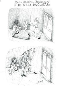 vignetta sara sorellastre ristorante casa donna affi herstory  femministe lesbiche luoghi storia collettivi gruppi Roma