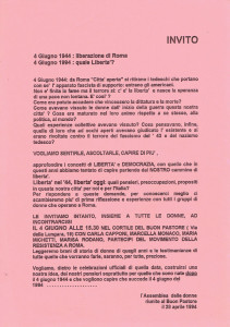 volantino resistenza herstory  femministe lesbiche  luoghi donne storia collettivi manifestazioni gruppi Roma