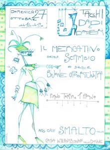 mercatino smalto volantino casa donna herstory  femministe luoghi storia collettivi gruppi Roma
