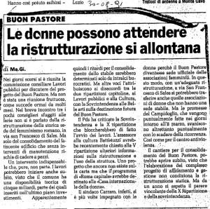 articolo manifesto Buon Pastore herstory  femministe lesbiche  luoghi donne storia collettivi manifestazioni gruppi Roma