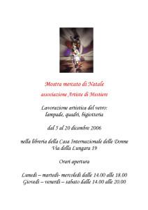 artiste mestiere mostra mercatino casa internazionale donne herstory  femminismo luoghi storia gruppi Roma