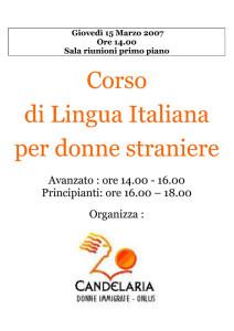 scuola italiano candelaria casa donna affi herstory  femministe luoghi storia collettivi gruppi Roma manifestazioni