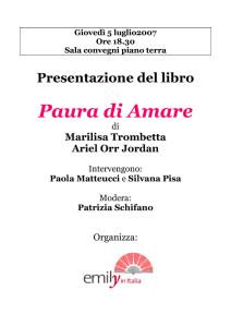 presentazione emily casa internazionale donne herstory  femminismo luoghi storia gruppi Roma
