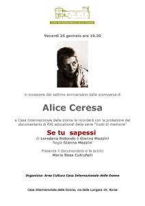 ricordo ceresa casa internazionale donne herstory  femminismo lesbismo luoghi storia gruppi Roma