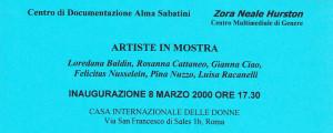 flyer mostra zora neale hurston casa donna affi herstory  femministe luoghi storia collettivi gruppi Roma manifestazioni