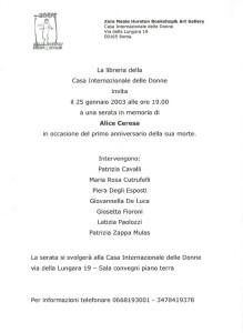 volantino memoria ceresa zora neale hurston casa donna affi herstory  femministe luoghi storia collettivi gruppi Roma manifestazioni