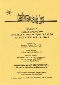 volantino concerto casa donna affi herstory  femministe lesbiche  luoghi storia collettivi gruppi Roma