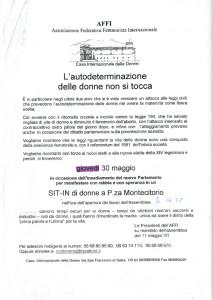 volantino sitin affi herstory  femministe lesbiche  luoghi donne storia collettivi gruppi Roma