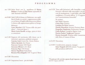 seminario programma Scienza della vita quotidiana casa donna herstory  femministe luoghi storia collettivi gruppi Roma