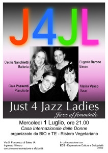 bio ristoro concerto casa internazionale donne herstory  femminismo luoghi storia gruppi Roma