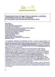 seminario femminismo casa internazionale donne herstory  lesbismo luoghi storia gruppi Roma