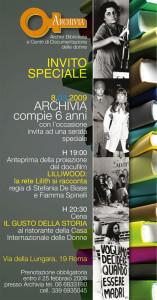 iniziativa locandina archivia biblioteca casa internazionale donne herstory  femminismo lesbismo luoghi storia gruppi Roma