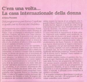 articolo paese donne Buon Pastore occupato Affi herstory  femministe lesbiche  luoghi storia gruppi Roma