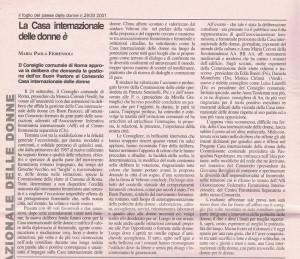 concessione comune casa donna affi herstory  femministe lesbiche  luoghi storia collettivi gruppi Roma manifestazioni