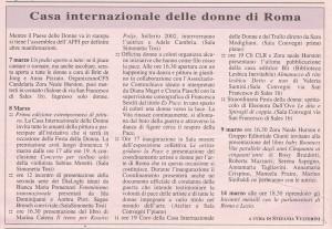 programma paese casa internazionale donne herstory  femminismo lesbismo luoghi storia gruppi Roma