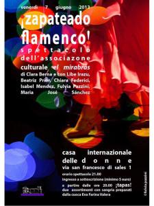 flamenco mirabas spettacolo casa internazionale donne herstory  femminismo luoghi storia gruppi Roma