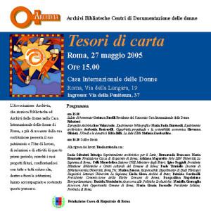 incontro tesori archivia biblioteca casa internazionale donne herstory  femminismo lesbismo luoghi storia gruppi Roma