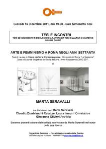 incontro archivia biblioteca casa internazionale donne herstory  femminismo lesbismo luoghi storia gruppi Roma