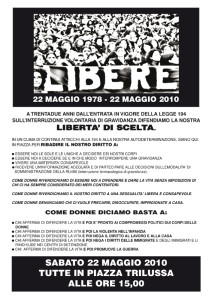 volantino 194 casa internazionale donne herstory  femminismo lesbismo luoghi storia gruppi Roma