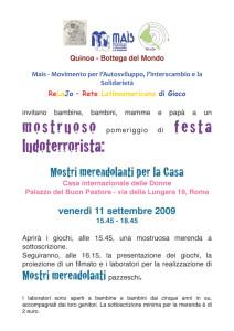 quinoa commercio equo solidale attività casa internazionale donne herstory  femminismo luoghi storia gruppi Roma