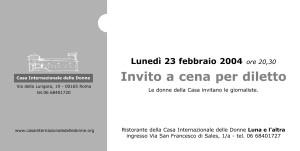 invito cena casa internazionale donne herstory  femminismo lesbismo luoghi storia gruppi Roma