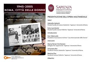 presentazione archivia biblioteca casa internazionale donne herstory  femminismo lesbismo luoghi storia gruppi Roma