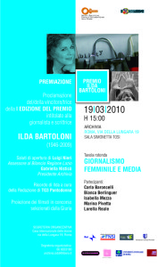 premio locandina archivia biblioteca casa internazionale donne herstory  femminismo lesbismo luoghi storia gruppi Roma