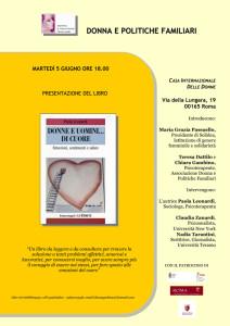 locandina donna politiche familiari herstory  femministe luoghi storia collettivi gruppi Roma