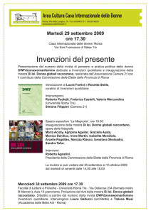 incontro mostra casa internazionale donne herstory  femminismo lesbismo luoghi storia gruppi Roma